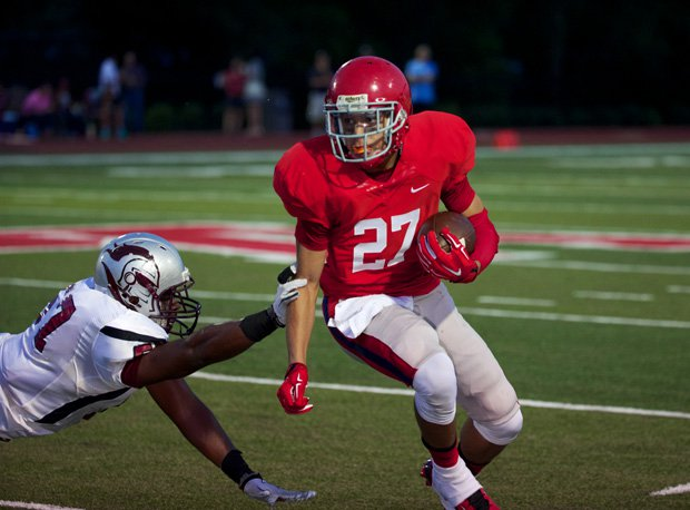 Camron Johnson of Brentwood Academy, shown in action in 2014.