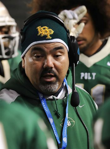 Long Beach Poly coach Raul Lara.