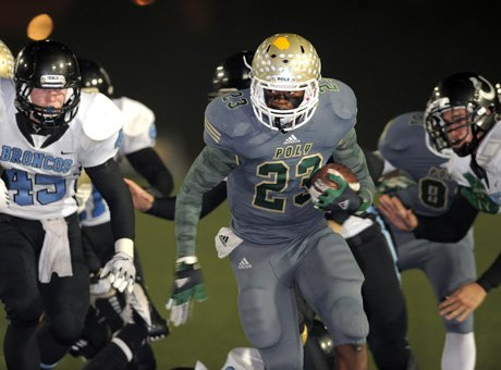 Long Beach Poly's Gerald Wicks rushed for 100 yards and a touchdown.