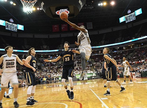 Roger Bacon's James Johnson scored 28 points in two D-III state tournament games.