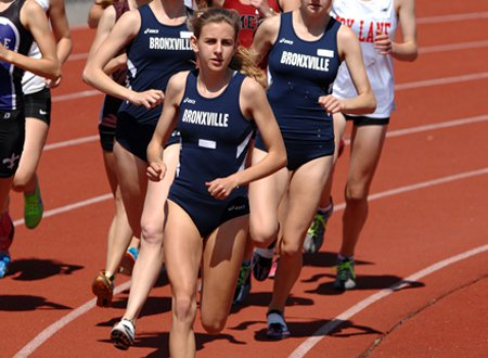 Leading the field is standard procedure for Bronxville's Mary Cain.