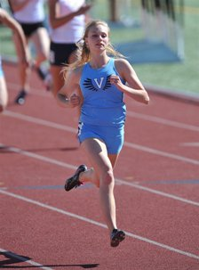 Valor Christian's MaryBeth Sant swept the sprint events in Class 4A track.