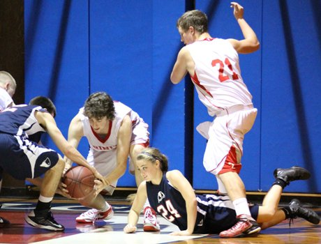 Lacy Asdourian has learned quickly that the boys game requires more physical play. The Liberty Christian junior switched over to the boys team after the girls season was cancelled.