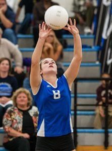 Sophomore setter Brianna Root