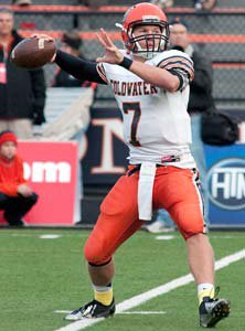 Coldwater quarterback Austin Bruns.