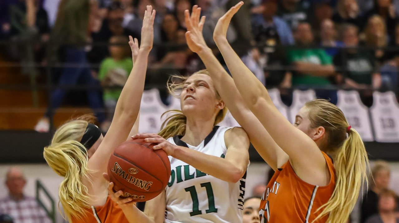 Kansas Girls Basketball Player of the Year Emily Ryan of Central Plains.