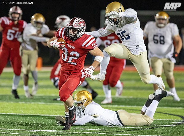 New Palestine (Ind.) and running back Charlie Spegal beat Cathedral (Indianapolis) 35-10 in the IHSAA Class 5A Regional Championship last week.