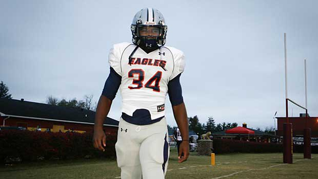 Damien Harris is arguably the most impressive sophomore in the country. He will be a top recruit in the Class of 2015.