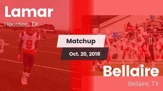 Football Game Recap: Bellaire vs. Lamar