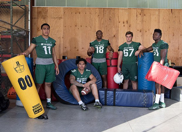De La Salle has a wealth of experienced players including seniors (left to right) Henry To'oto'o, Beaux Tagaloa, Isaiah Foskey, Gunnar Rask and Jhasi Wilson.