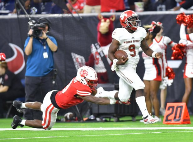 Dematrius Davis Jr. ran for 283 yards and threw for 134 more in North Shore's 56-35 win over Katy.