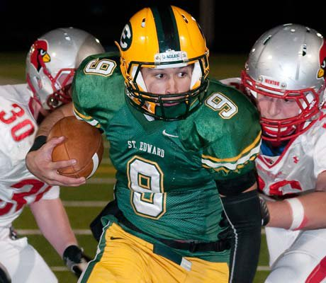 St. Edward's Ryan Fallon ran for three touchdowns and passed for two scores.