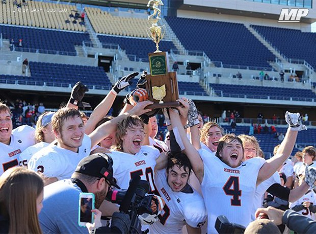 Minster won the 2017 OHSAA Division VII state football title, which was the program's third.