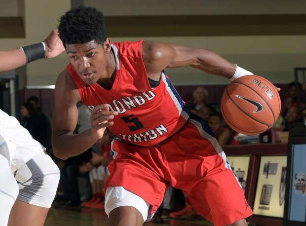 Morgan Means helped Redondo Union advance to the MaxPreps Holiday Classic championship game with 26 points against Bishop Gorman Tuesday night.