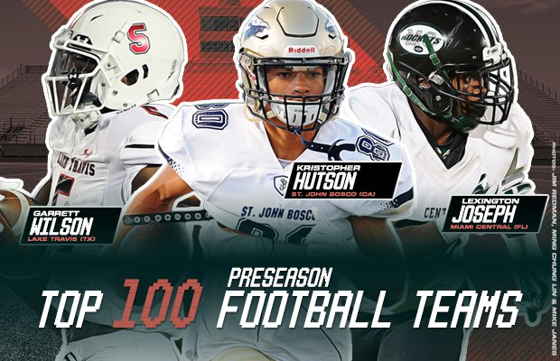 Maxpreps 2018 Preseason Top 100 High School Football Teams Maxpreps