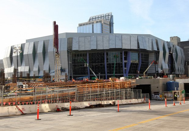 The new $507-million Golden 1 Center is currently under construction in downtown Sacramento and is scheduled to be ready for Sacramento Kings' 2016-17 season.