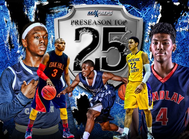 From left to right, Devearl Ramsey of Sierra Canyon, Terrence Phillips of Oak Hill Academy, Jalen Coleman of La Lumiere, Ben Simmons of Montverde Academy and Allonzo Trier of Findlay Prep hope to put their teams in the thick of the national championship conversation in 2014-15.