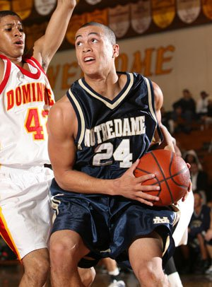 Giancarlo Stanton was Notre Dame's leading scorer and rebounder as a senior.