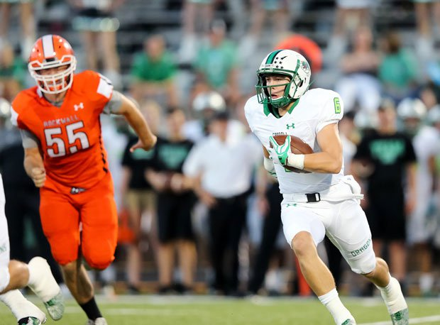 Carroll wideout Cade Bell leads the Dragons into battle against Trinity.