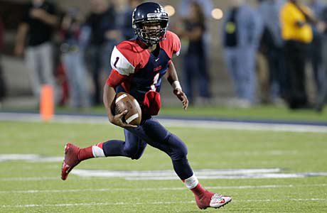 Quarterback Kyler Murray used his legs as well as his arm to lead Allen past Mesquite in a playoff game Friday night.