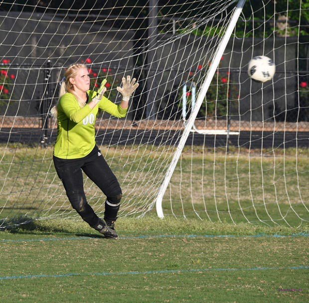Bailey Frick switched form softball to soccer in her junior year and, with her father's coaching, became a standout goalie for North Stanly.