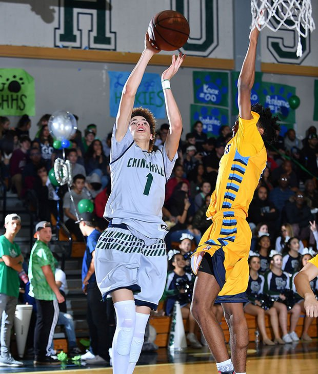 LaMelo Ball made 37 of 61 shots and scored 41 points in the fourth quarter en route to his 92-point outburst in Chino Hills' 146-123 victory over Los Osos.