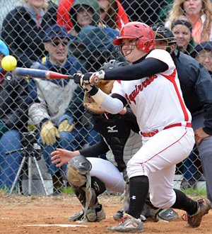 Amundson is a stellar hitter, showing that her softballstardom isn't just based on changing her pitching arm.
