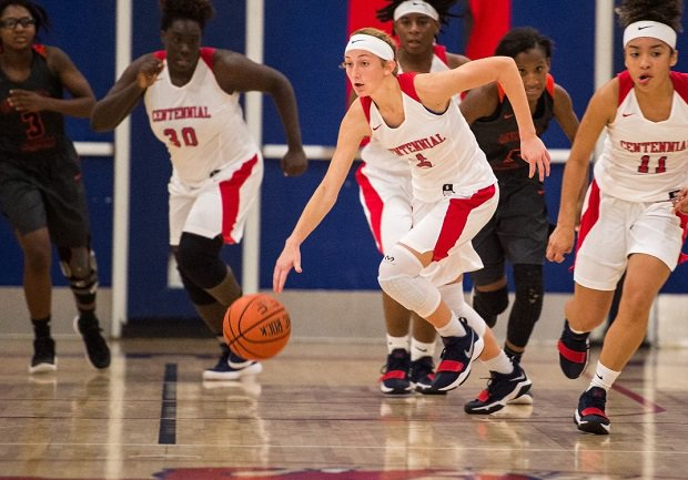 Lindsey O'Sullivan helped Centennial to its first playoff win since 2004. The junior guard led the team in scoring with 12 points per game.