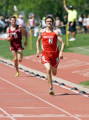 Montrose's Ian Meek won two events in Class 4A.