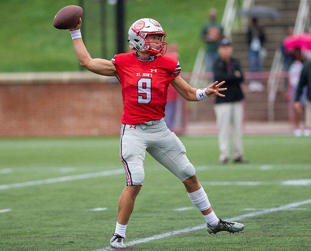 St. John's quarterback Sol-Jay Maiava