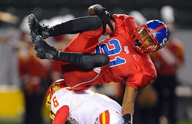 Adoree' Jackson provided one of the most exciting moments in the 2012 high school football season, and also earned MaxPreps California Division II Player of the Year honors.