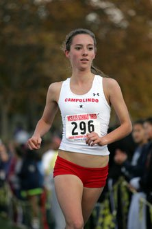 Campolindo's Carrie Verdon recorded  the second fastest NCS time on the  Hayward High School course last week.