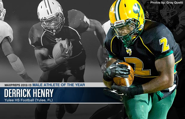 Derrick Henry earned the MaxPreps 2012-13 Male Athlete of the Year by breaking a prep rushing record that stood for 59 years.