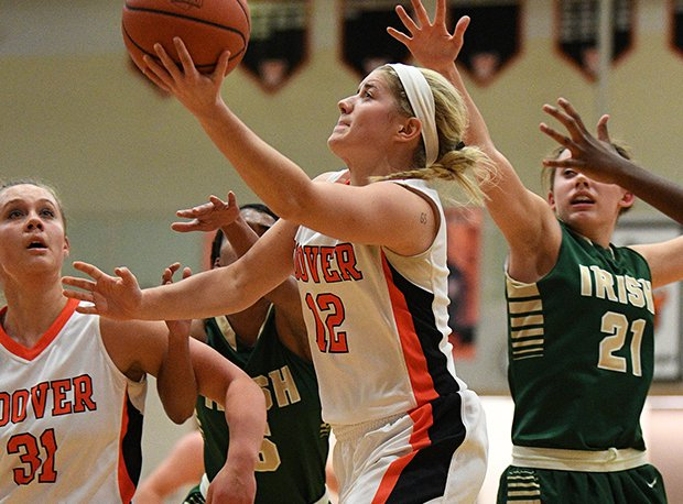 Hoover's Maddie Blyer is one of this week's finalists after canning a 3-pointer at the buzzer to beat GlenOak in a D-I district final.