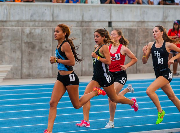 The competition in the girls 800 was fierce.