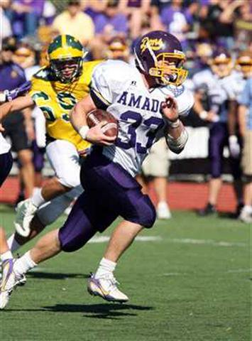 Amador Valley's Dalton Turah (33) is headed for Stanford.