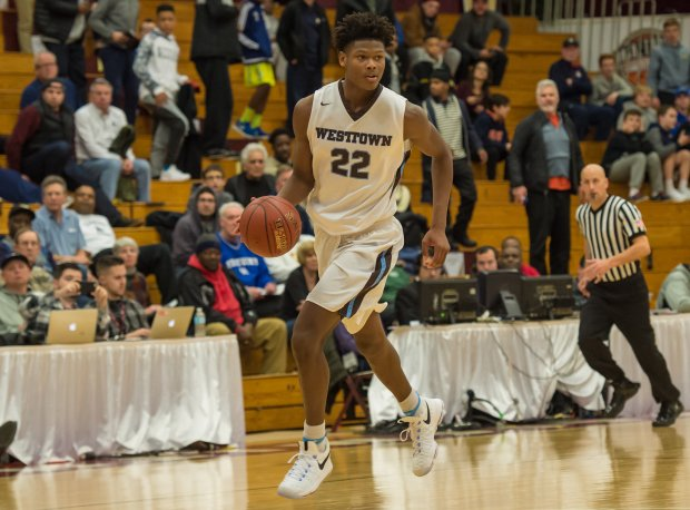 Cameron Reddish in action at the Spalding Hoophall Classic in January.