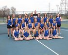 North Harrison Cougars Girls Varsity Tennis Spring 18-19 team photo.