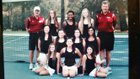 Carondelet Cougars Girls JV Tennis Fall 15-16 team photo.