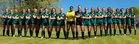 Enloe Eagles Girls Varsity Soccer Spring 18-19 team photo.
