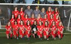 Flora Falcons Girls Varsity Soccer Spring 18-19 team photo.