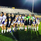 Cox Mill Chargers Girls Varsity Soccer Spring 18-19 team photo.