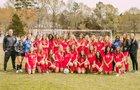 Baptist Prep Eagles Girls Varsity Soccer Spring 18-19 team photo.