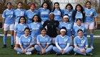 Solorio Sun Warriors Girls Varsity Soccer Spring 18-19 team photo.