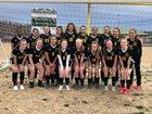 Wilkes Central Eagles Girls Varsity Soccer Spring 18-19 team photo.