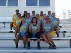 Dulce Hawks Girls Varsity Track & Field Spring 17-18 team photo.