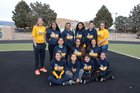 Highland Hornets Girls Varsity Track & Field Spring 17-18 team photo.