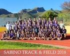 Sabino Sabercats Girls Varsity Track & Field Spring 17-18 team photo.