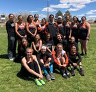 Capitan Tigers Girls Varsity Track & Field Spring 17-18 team photo.