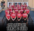 New Mexico Military Institute Colts Girls Varsity Track & Field Spring 17-18 team photo.